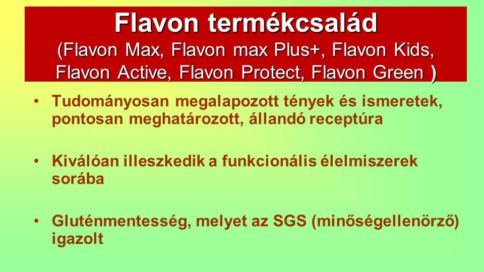 Tudományosan megalapozott tények és ismeretek, pontosan meghatározott, állandó receptúra Kiválóan illeszkedik a funkcionális élelmiszerek sorába Gluté