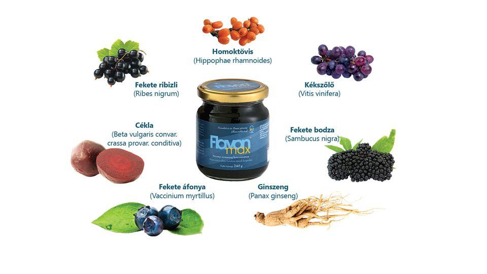 Összetevők: Fekete ribizli A ntioxidáns, szabadgyök fogó, tumor ellenes színanyagok: antocián, flavonoid, polifenol.