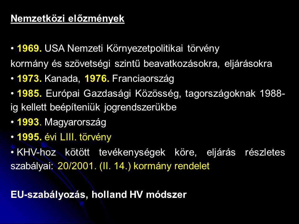 Nemzetközi előzmények 1969.