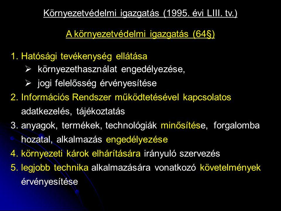 Környezetvédelmi igazgatás (1995. évi LIII.