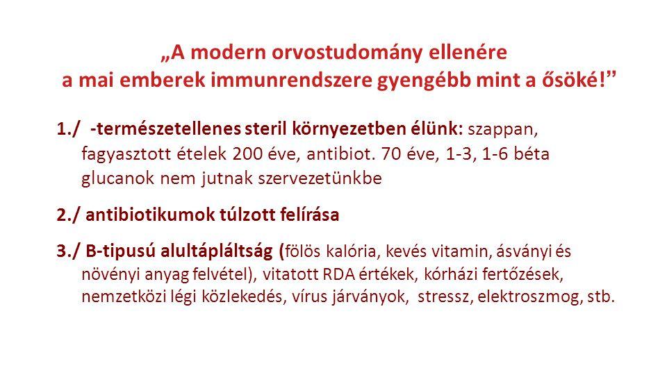 Immunrendszeri gyengeség Az asztmás és allergiás esetek száma több mint 250 %-kal növekedett 1980 óta Az 1-es típusú cukorbetegség és egyéb auto- immun betegségek évente 2-3 %-kal növekednek (Fred Miller, USA CDC) Rezisztencia a fertőzésekkel szemben