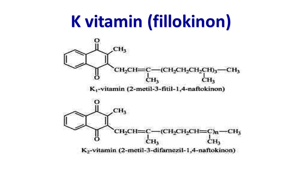 K vitamin (fillokinon)