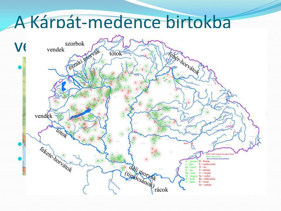 A Kárpát-medence birtokba vétele 896-900 között fokozatos terjeszkedés leigázottak, ott élők beolvasztása (szlávok, avarok, frankok) ismereteik átvéte
