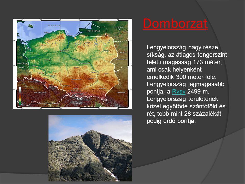 Domborzat Lengyelország nagy része síkság, az átlagos tengerszint feletti magasság 173 méter, ami csak helyenként emelkedik 300 méter fölé. Lengyelors