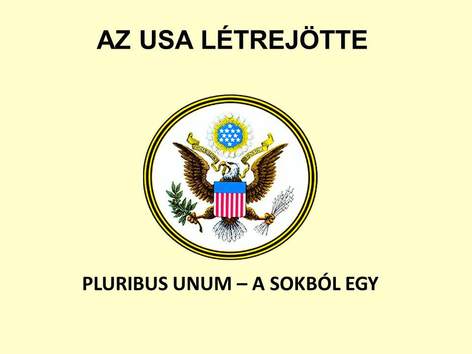 PLURIBUS UNUM – A SOKBÓL EGY AZ USA LÉTREJÖTTE