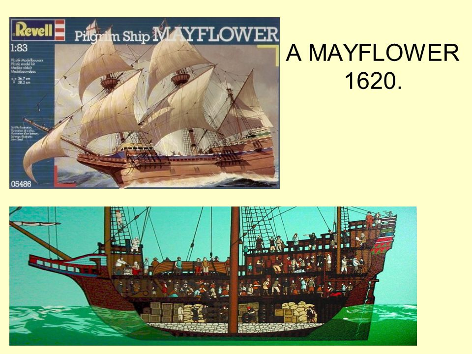 A MAYFLOWER 1620.