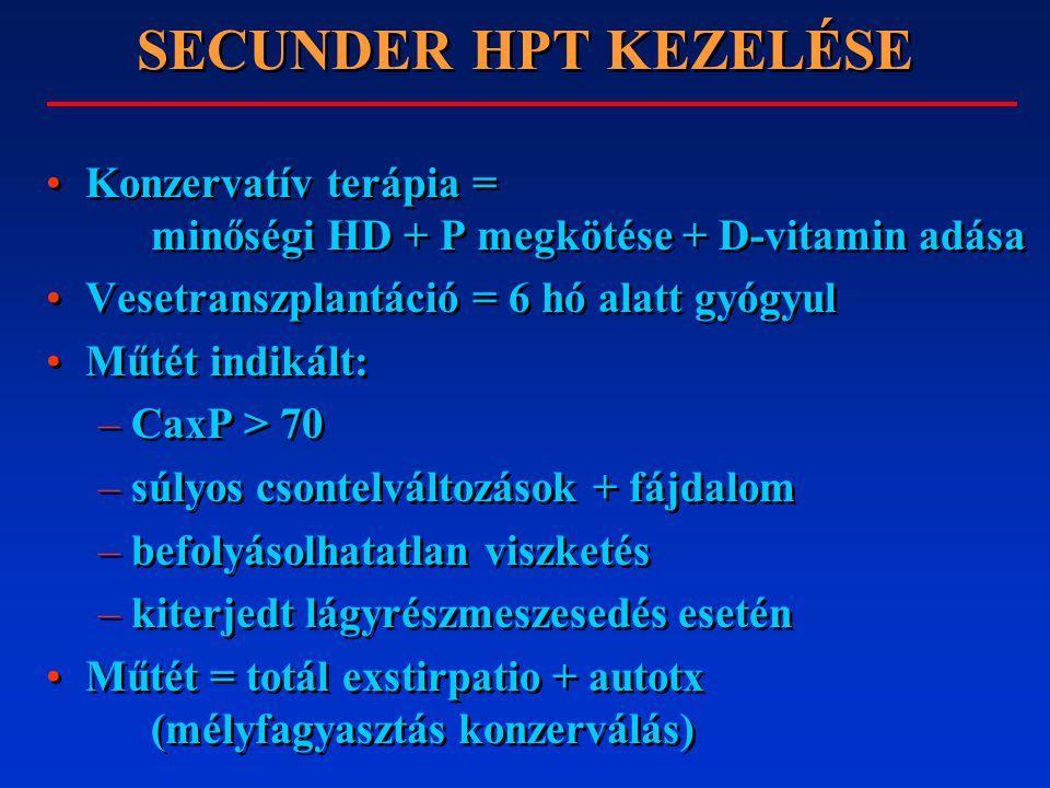 HYPERCALCAEMIA DIFF.DG. 35% csontmetastasis: pl. emlő tu.,PTH secr.