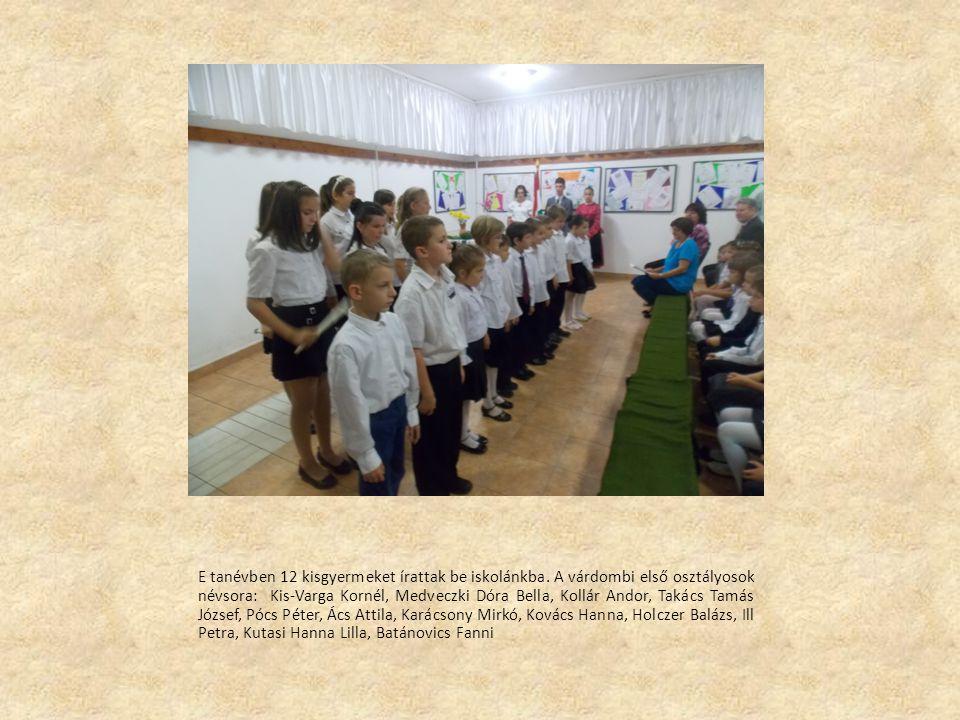 E tanévben 12 kisgyermeket írattak be iskolánkba.
