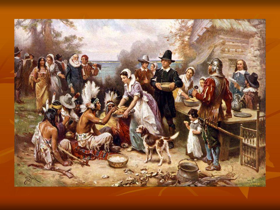 Az indiánok segítségének köszönhetően, 1621 őszén már bőséges termést takaríthattak be. Örömük és hálájuk kifejezésére nagyszabású ünnepséget rendezte