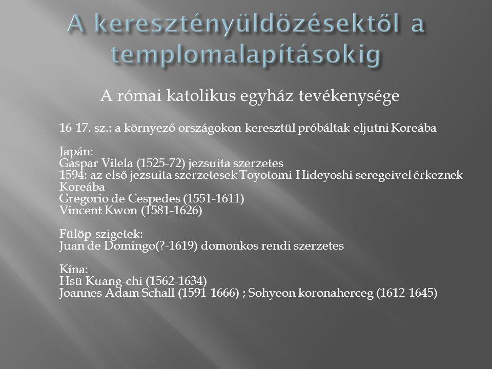 A római katolikus egyház tevékenysége - 16-17.