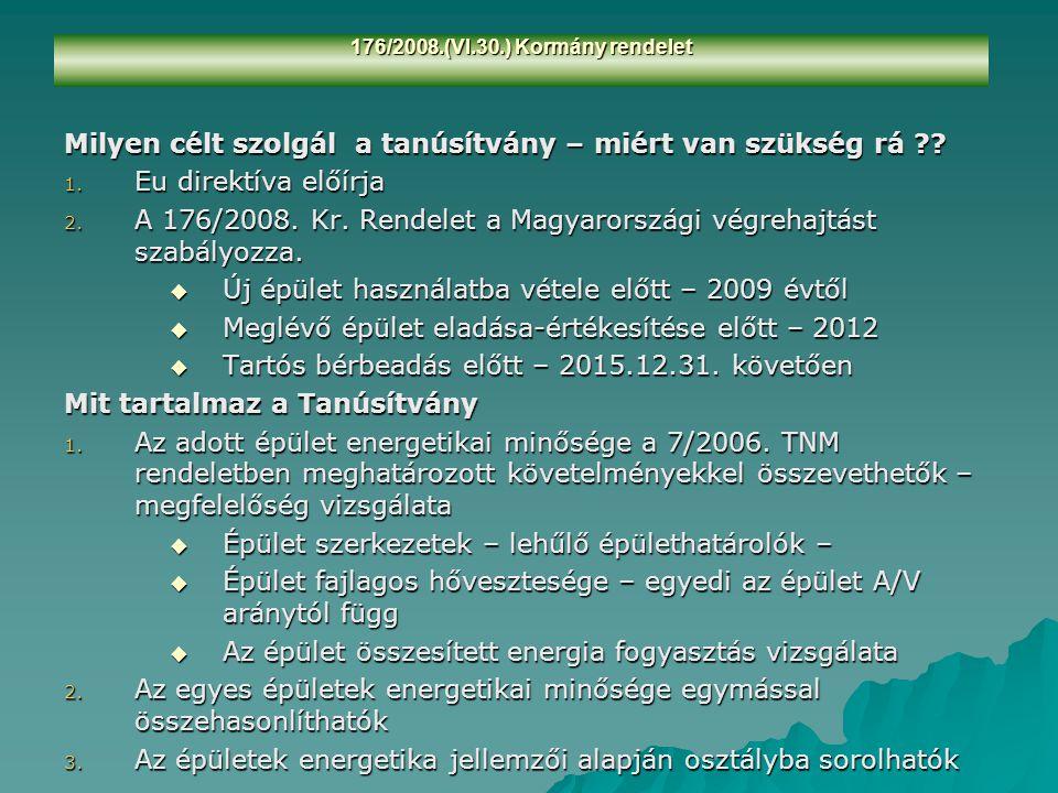 176/2008.(VI.30.) Kormány rendelet Megoldás !.1. Egységes nyilvántartási rendszer kialakítása.
