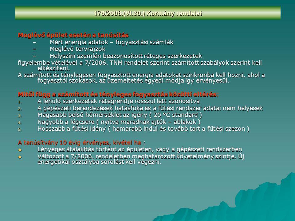 176/2008.(VI.30.) Kormány rendelet A tanúsító személye ( 104/2006, és 244/2006.