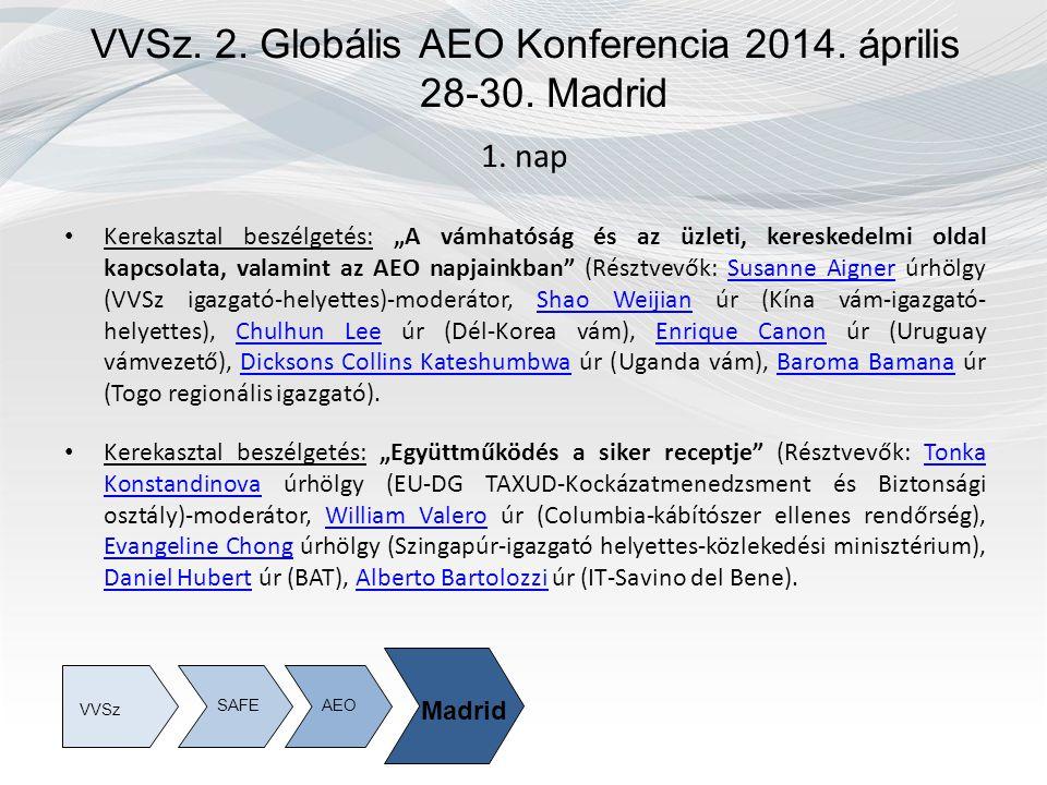 VVSz. 2. Globális AEO Konferencia 2014. április 28-30.