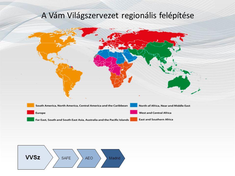 A Vám Világszervezet regionális felépítése SAFEAEOMadrid VVSz
