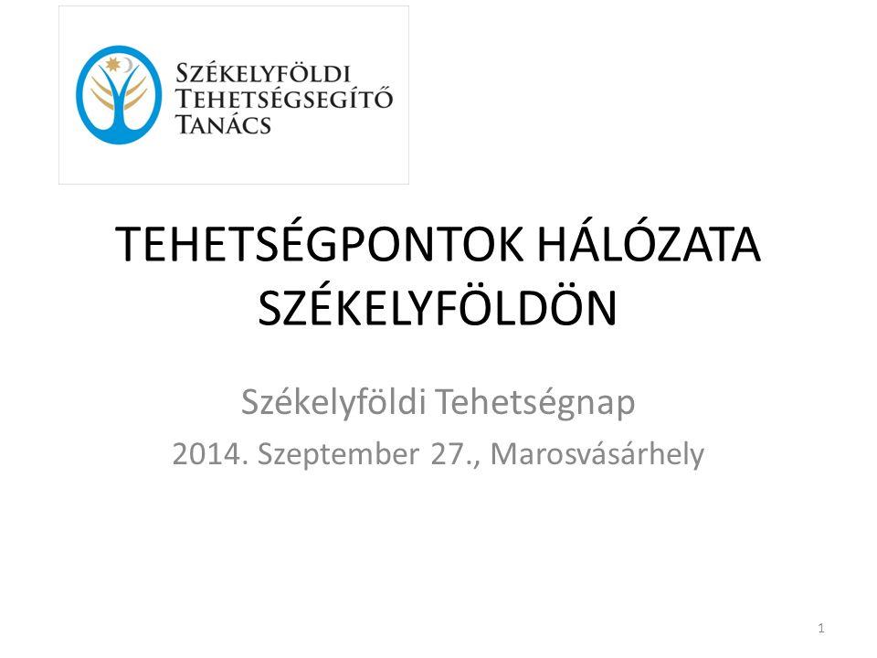 TEHETSÉGPONTOK HÁLÓZATA SZÉKELYFÖLDÖN Székelyföldi Tehetségnap 2014.