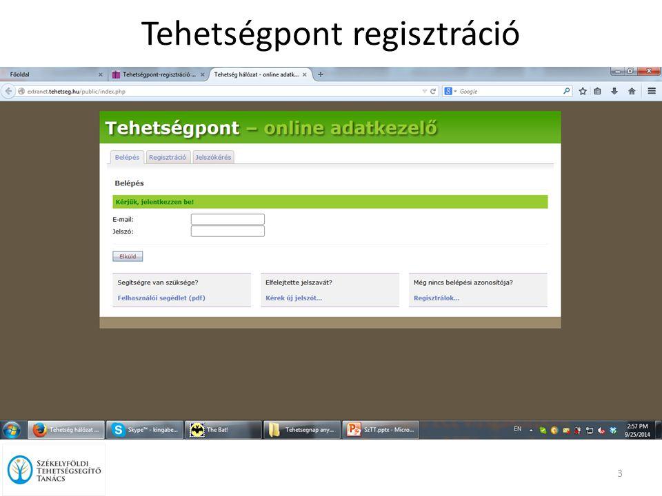 Tehetségpont regisztráció 3