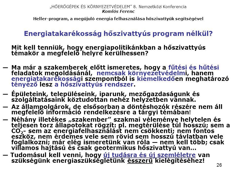 """26 """"HŐERŐGÉPEK ÉS KÖRNYEZETVÉDELEM 8."""