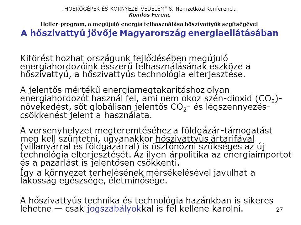 """27 """"HŐERŐGÉPEK ÉS KÖRNYEZETVÉDELEM 8."""