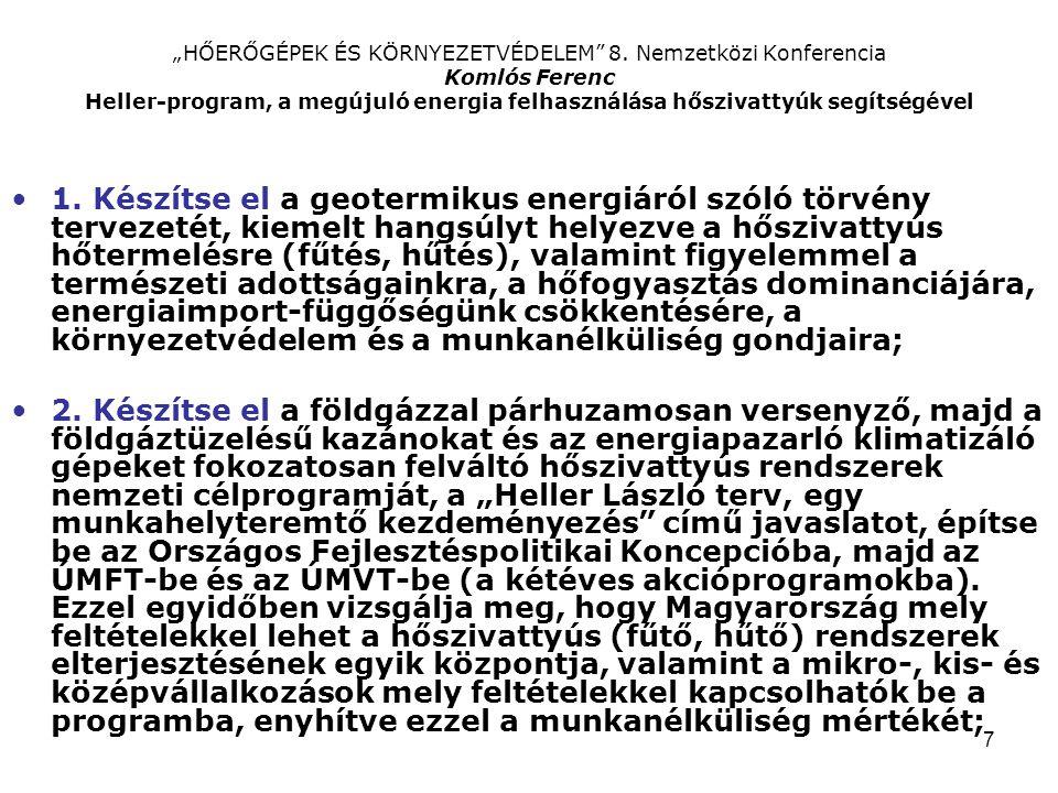 """7 """"HŐERŐGÉPEK ÉS KÖRNYEZETVÉDELEM 8."""