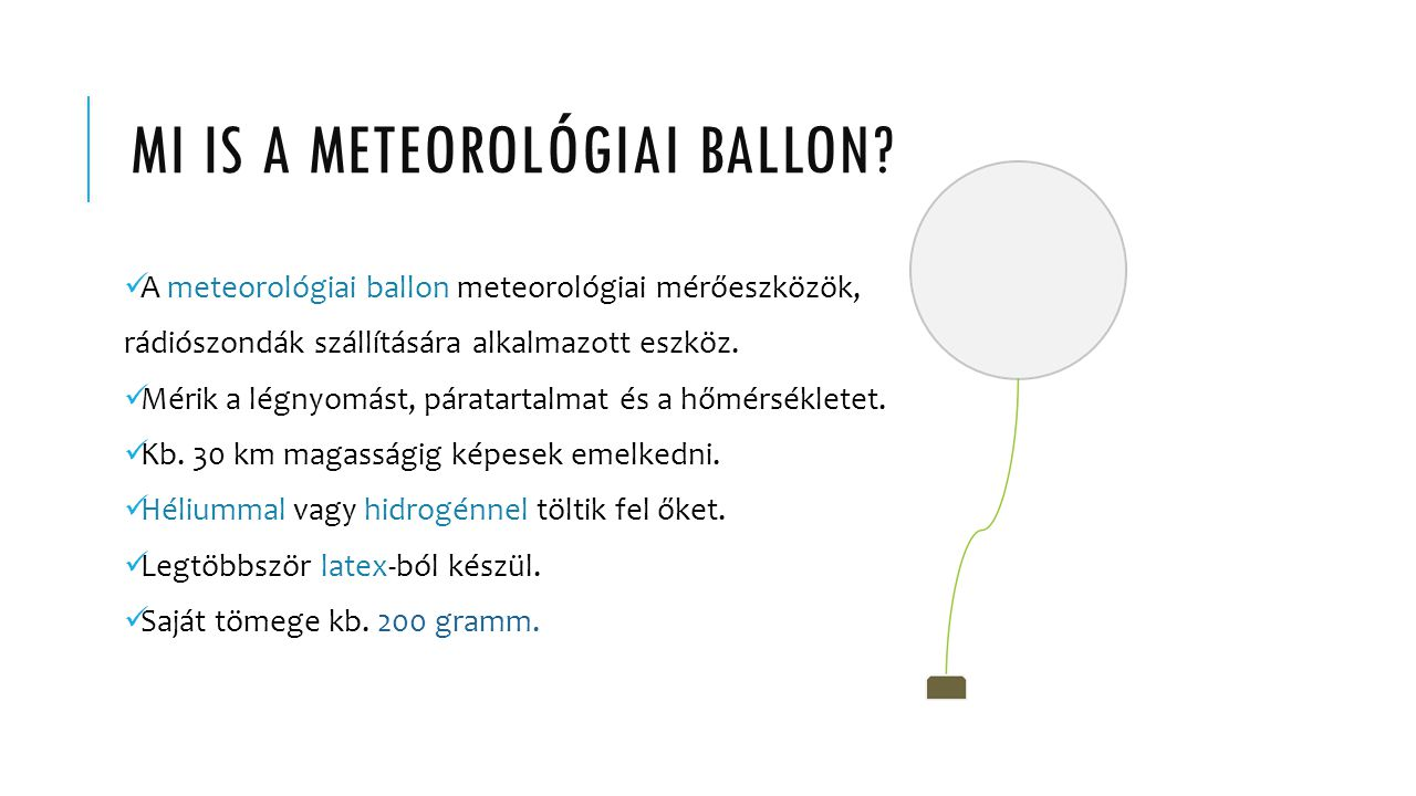 MI IS A METEOROLÓGIAI BALLON.