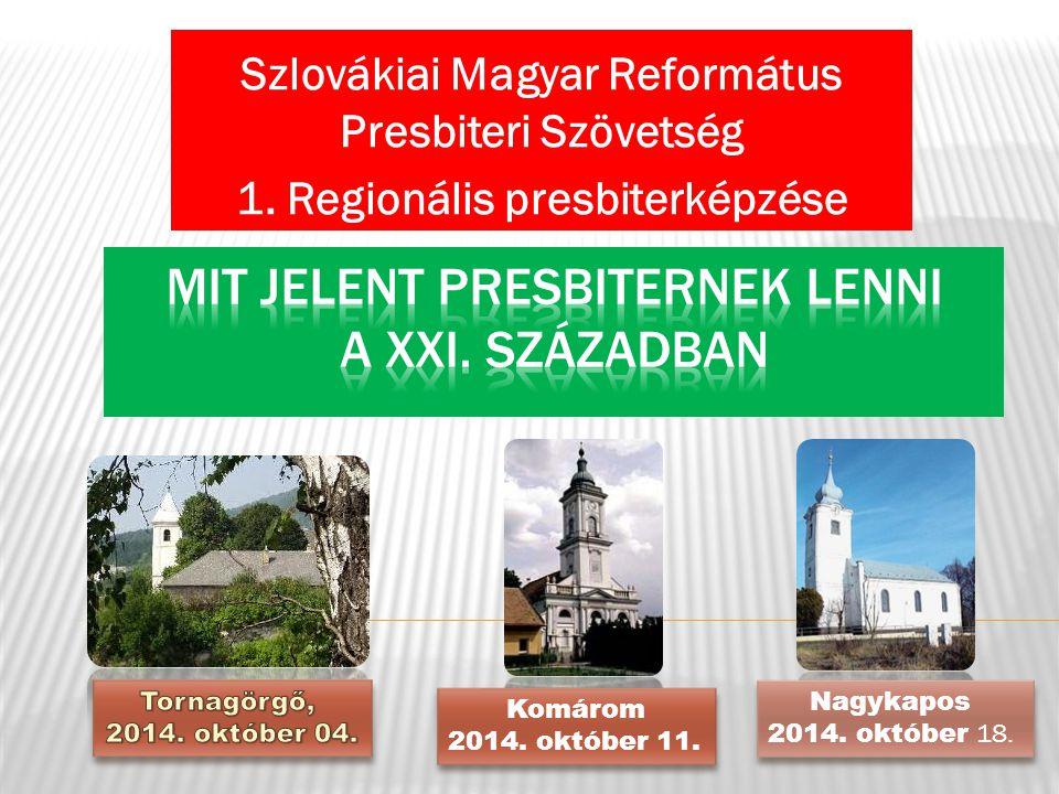 Szlovákiai Magyar Református Presbiteri Szövetség 1.