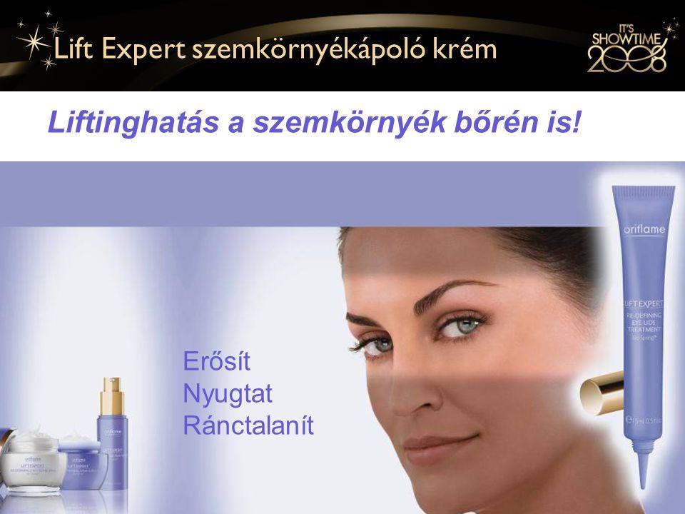 12 Lift Expert szemkörnyékápoló krém Liftinghatás a szemkörnyék bőrén is.