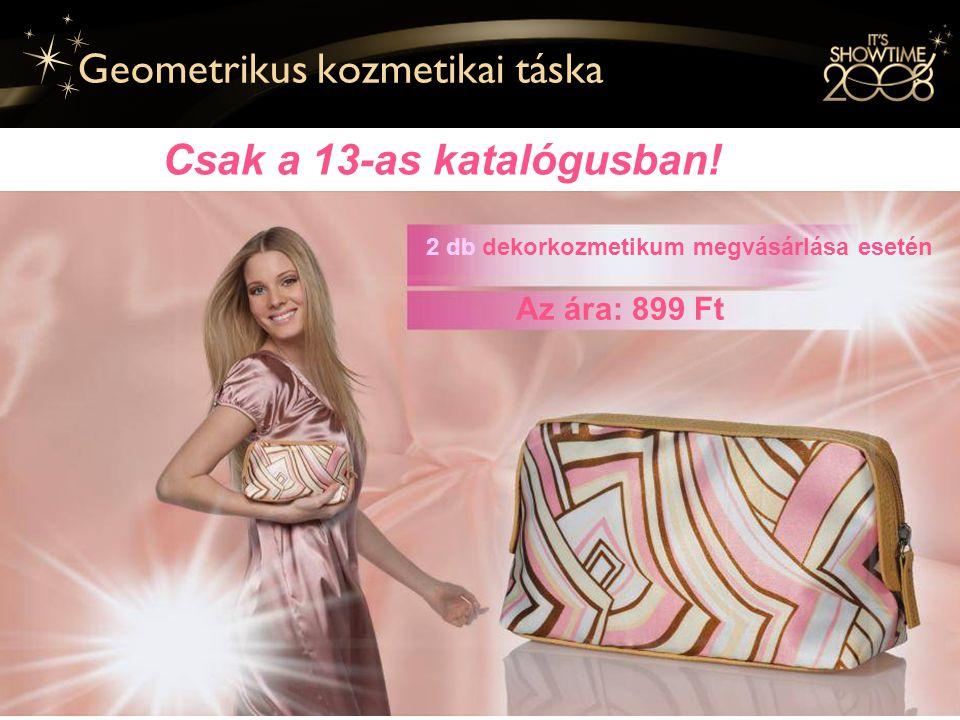 19 Geometrikus kozmetikai táska 2 db dekorkozmetikum megvásárlása esetén Az ára: 899 Ft Csak a 13-as katalógusban!