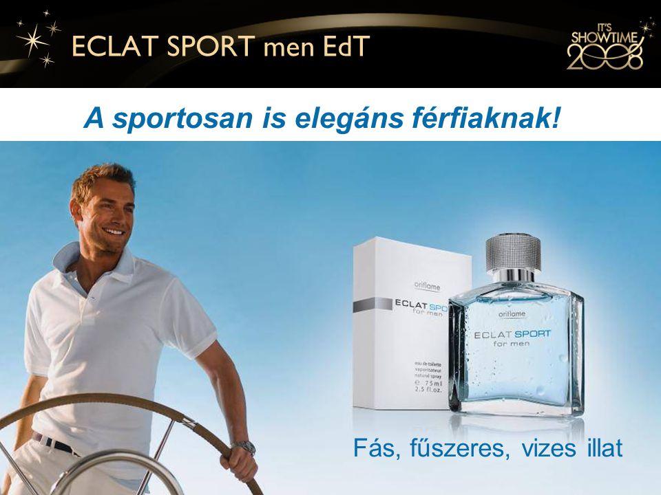 8 ECLAT SPORT men EdT A sportosan is elegáns férfiaknak! Fás, fűszeres, vizes illat