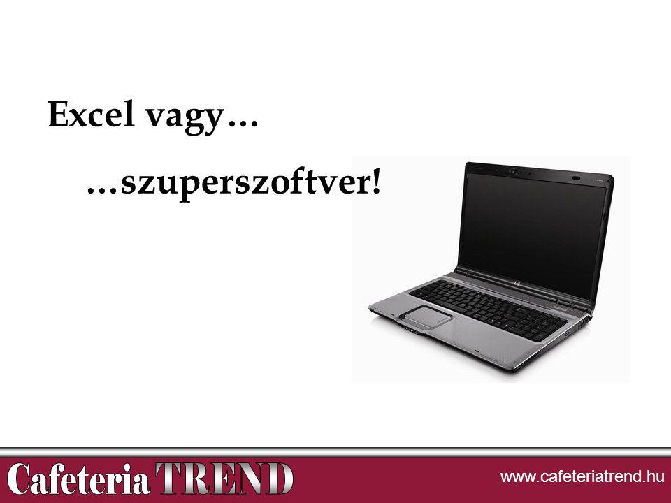 Excel vagy… …szuperszoftver! www.cafeteriatrend.hu