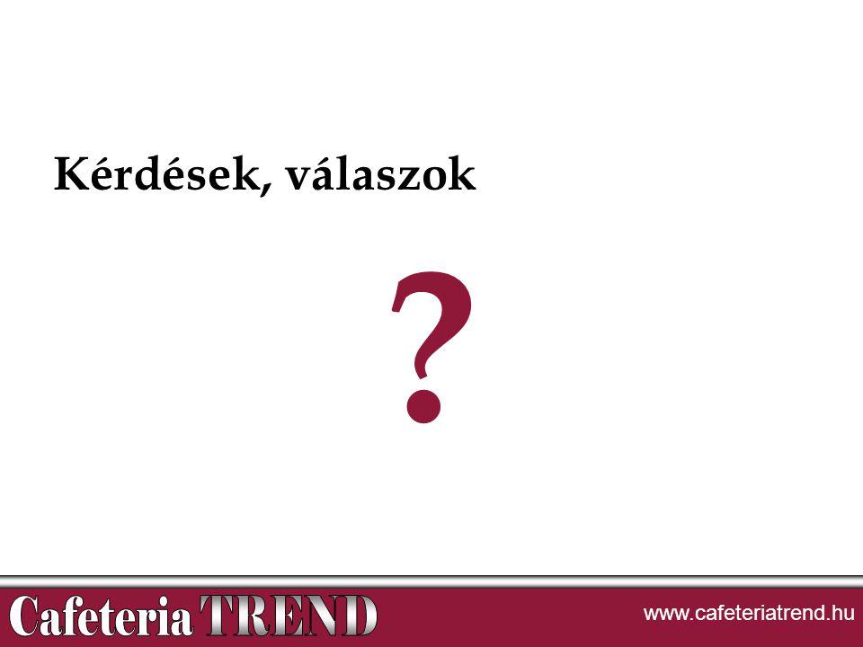 Kérdések, válaszok ? www.cafeteriatrend.hu