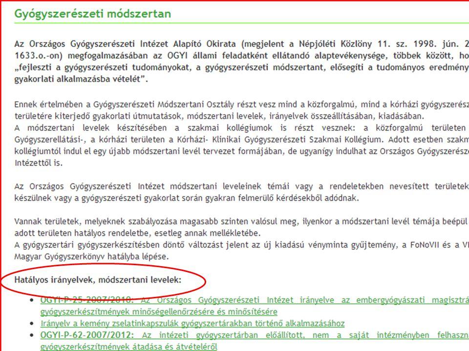 OGYI www.ogyi.hu www.ogyi.hu GYÓGYSZERINFORMÁCIÓ – Gyógyszer-adatbázis Gyógyszer-adatbázis – Gyógytermék –adatbázis Gyógytermék –adatbázis – Listák Listák – Gyógyszerforgalmazók Gyógyszerforgalmazók – Kivonás/felfüggesztés Kivonás/felfüggesztés – Átmeneti termékhiány Átmeneti termékhiány – Lejárati idő hosszabbítás Lejárati idő hosszabbítás