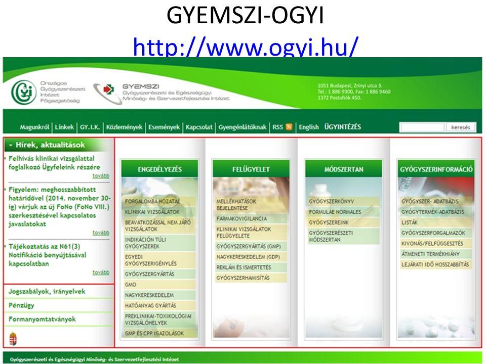 GYEMSZI-OGYI http://www.ogyi.hu/ http://www.ogyi.hu/