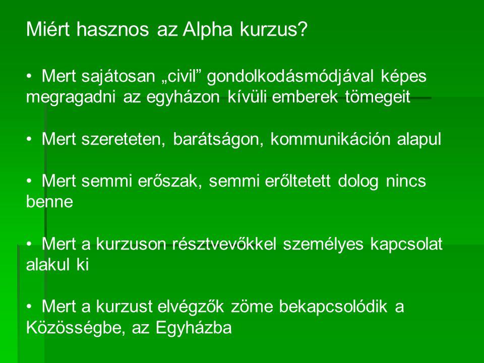 Miért hasznos az Alpha kurzus.