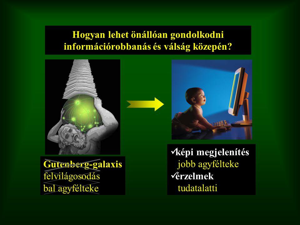 Hogyan lehet önállóan gondolkodni információrobbanás és válság közepén? képi megjelenítés jobb agyfélteke érzelmek tudatalatti Gutenberg-galaxis felvi