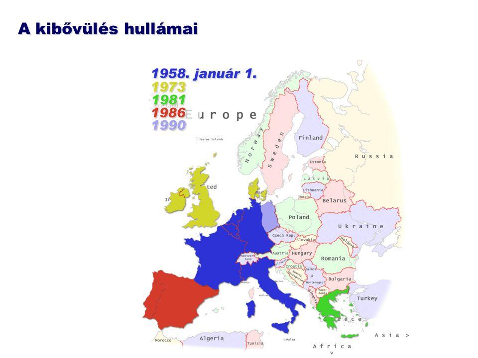 Határok nélkül a kontinens nagy részén Áruk és szolgáltatások számára az EU-n belül megszűnnek a határok: Pécstől Stockholmig, Miskolctól Portóig egy térség Személyek számára 2007-ig könnyített átlépés az EU bővítés előtti határain + (új típusú) személyi igazolvánnyal lehet utazni az EU egész területén 2007-től virtuálisak Magyarország nyugati és északi határai (Schengen-tagság) A keleti-déli határok nagy része hamarosan formálissá válhat.