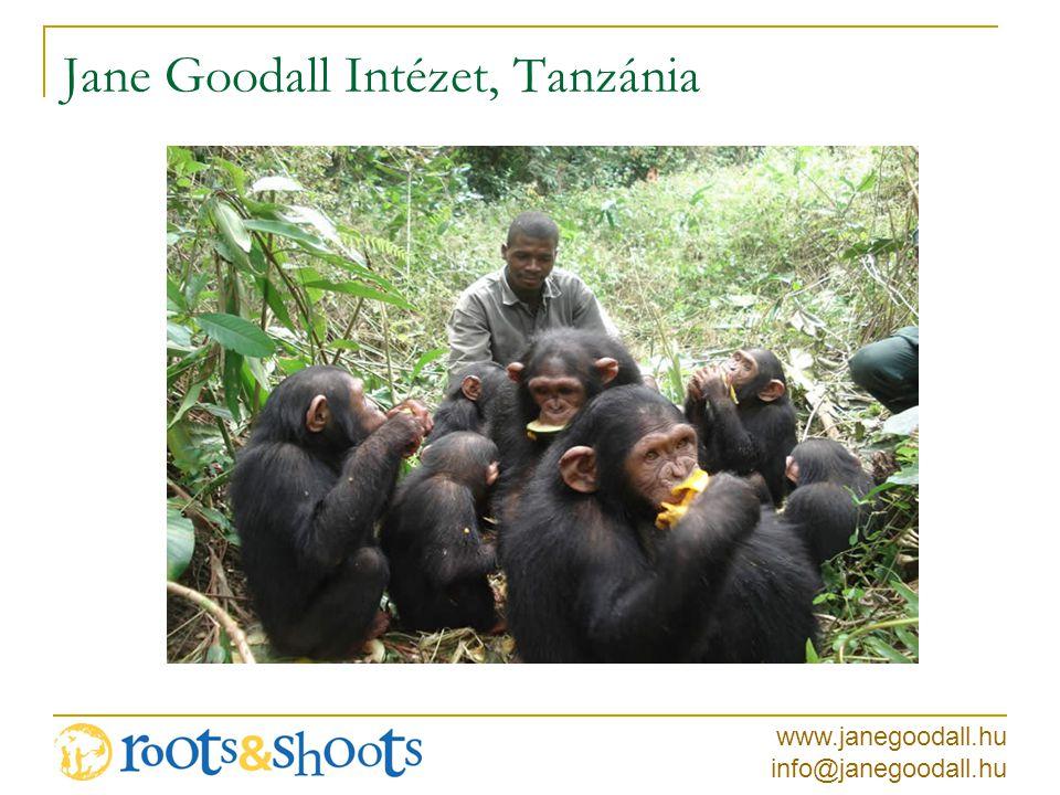 www.janegoodall.hu info@janegoodall.hu Jane Goodall Intézet, Tanzánia