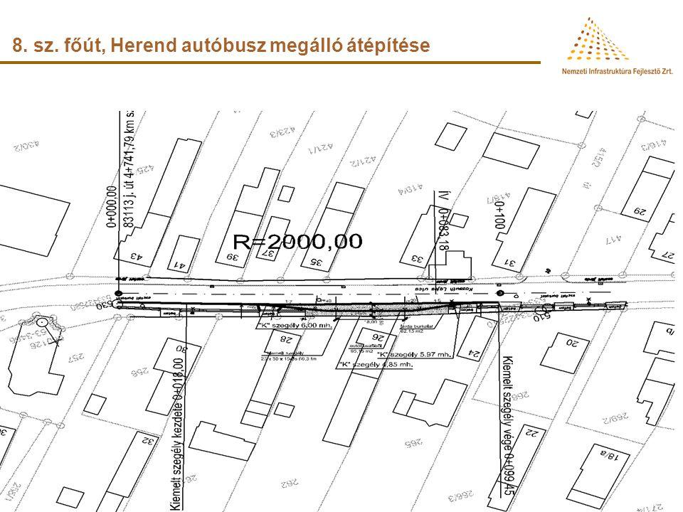 8. sz. főút, Herend autóbusz megálló átépítése