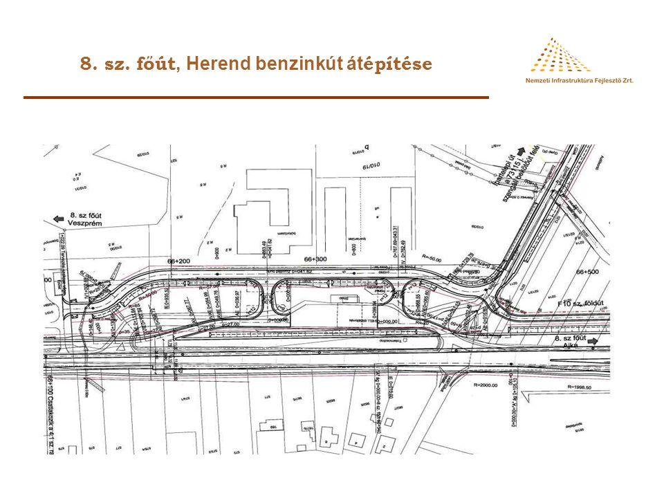 8. sz. főút, Herend benzinkút át építése
