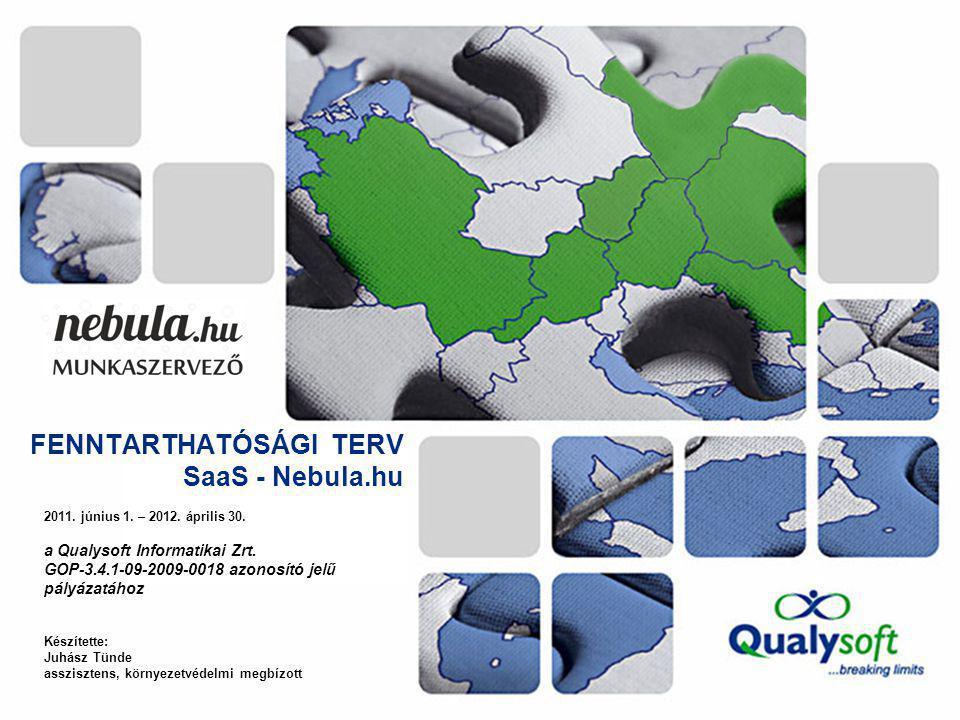 FENNTARTHATÓSÁGI TERV SaaS - Nebula.hu 2011. június 1.