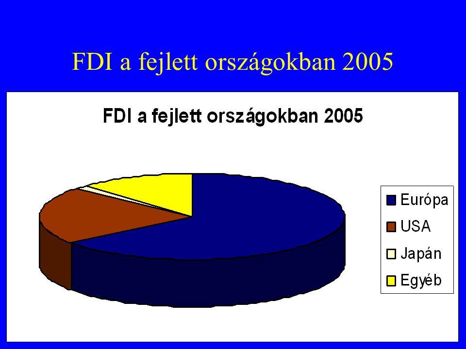 FDI a fejlett országokban 2005