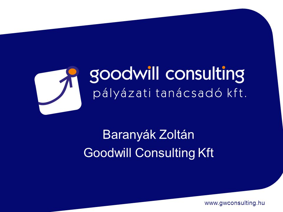 www.gwconsulting.hu Baranyák Zoltán Goodwill Consulting Kft
