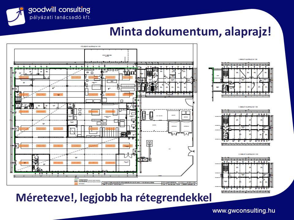 www.gwconsulting.hu Minta dokumentum, alaprajz! Méretezve!, legjobb ha rétegrendekkel