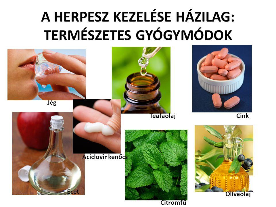 A HERPESZ KEZELÉSE HÁZILAG: TERMÉSZETES GYÓGYMÓDOK TeafaolajCink Jég Ecet Citromfű Olívaolaj Aciclovir kenőcs