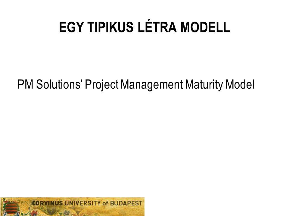 EGY TIPIKUS LÉTRA MODELL PM Solutions' Project Management Maturity Model