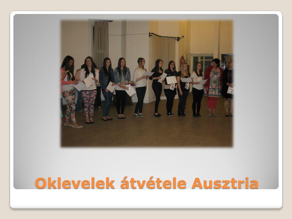 Oklevelek átvétele Ausztria