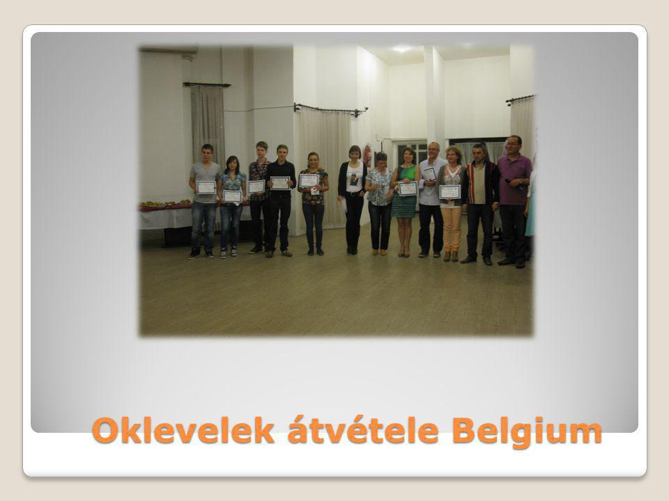 Oklevelek átvétele Belgium