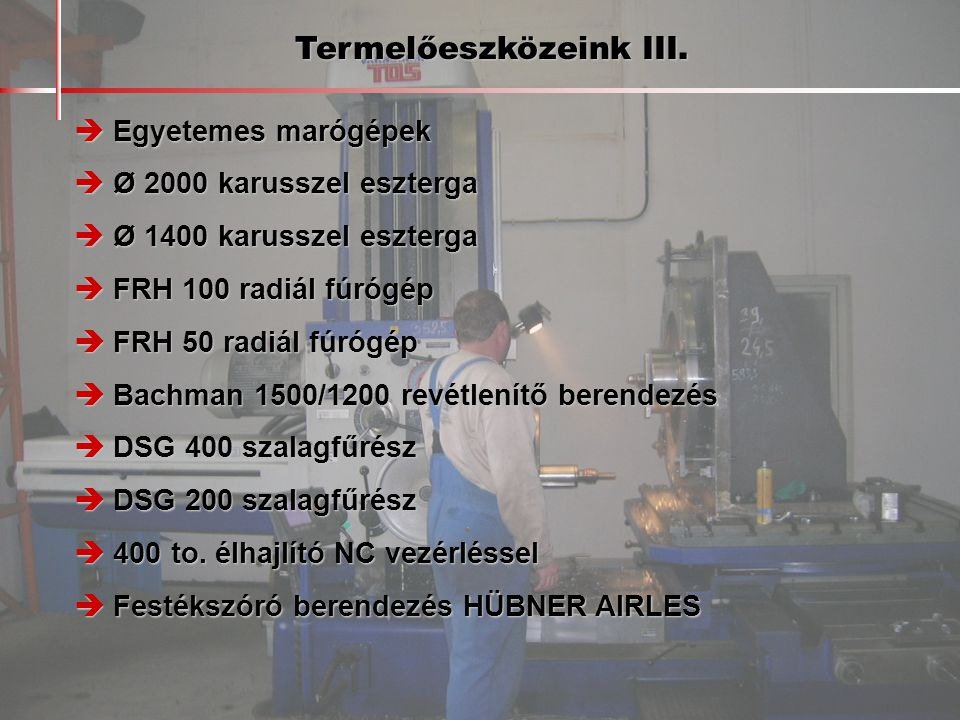 Referenciamunkák  AUMUND GmbH.