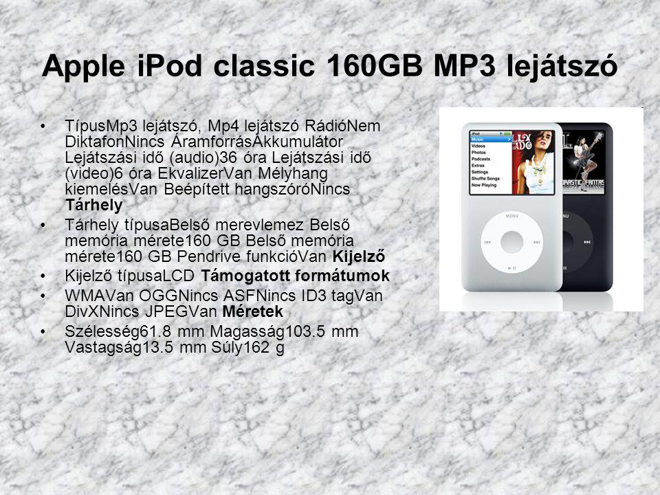 Apple iPod shuffle 4GB MP3 lejátszó TípusMp3 lejátszó RádióNem DiktafonNincs ÁramforrásAkkumulátor Lejátszási idő (audio)10 óra EkvalizerNincs Mélyhang kiemelésNincs Mikrofon bemenetNincs Tárhely Tárhely típusaBelső memória Belső memória mérete4 GB Belső memória mérete4 GB Pendrive funkcióVan Kijelző Kijező háttérvilágításNincs Támogatott formátumok WMANincs OGGNincs ASFNincs ID3 tagNincs JPEGNincs Méretek Szélesség17.5 mm Magasság45.2 mm Vastagság7.8 mm Súly10.7 g