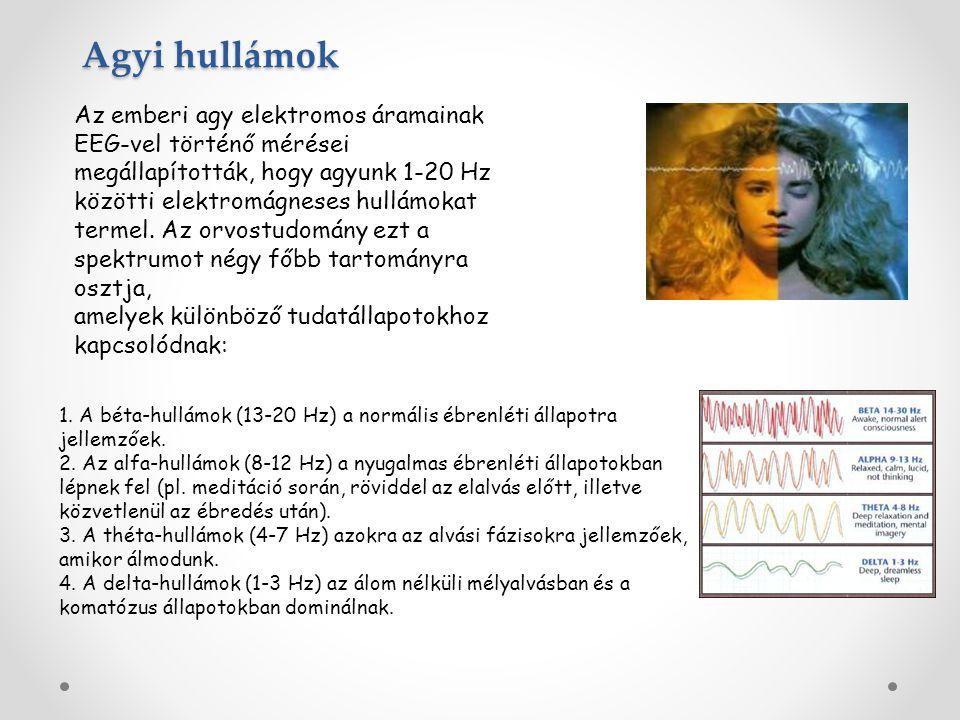 Az emberi agy elektromos áramainak EEG-vel történő mérései megállapították, hogy agyunk 1-20 Hz közötti elektromágneses hullámokat termel. Az orvostud