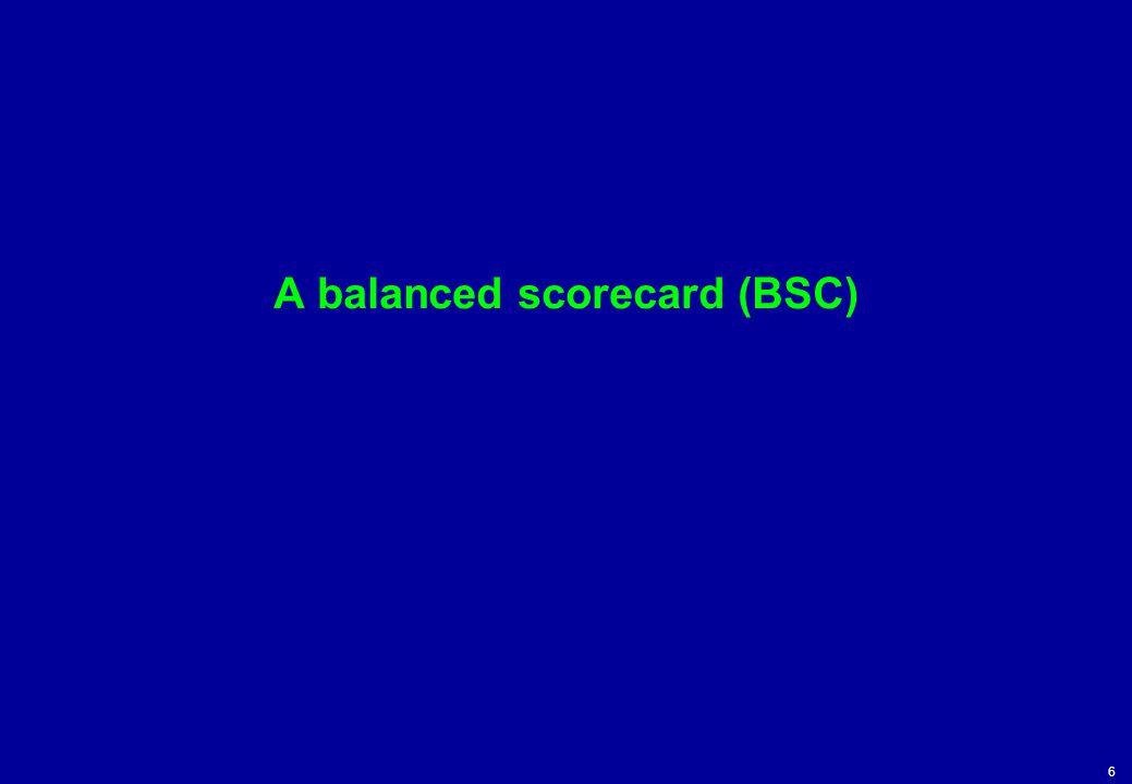6 A balanced scorecard (BSC)